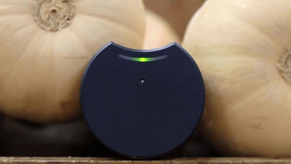 eSmileys sensor mäter temperaturen i ditt kylskåp